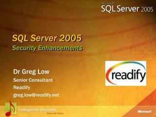 SQL Server 2005  Security Enhancements