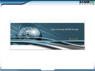 Qstar  Archiving WORM Storage