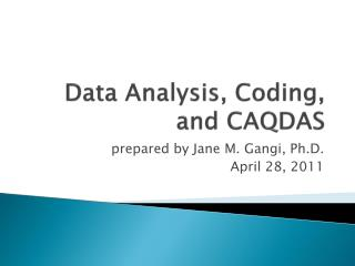 Data Analysis, Coding, and CAQDAS