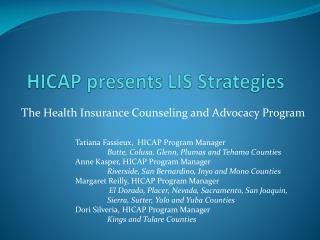 HICAP presents LIS Strategies