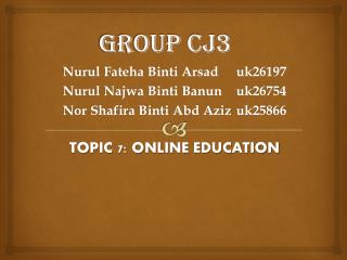 GROUP CJ3