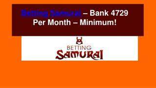 Betting Samurai