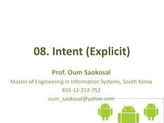 08. Intent  (Explicit)