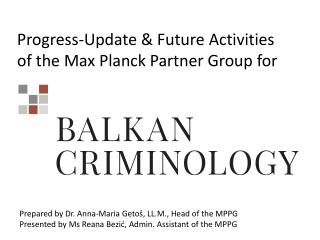 Progress-Update  & Future  Activities of the Max Planck Partner Group for
