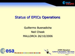 Status of EPICs Operations