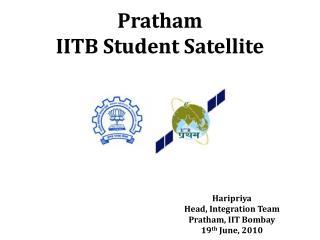 Pratham IITB Student Satellite