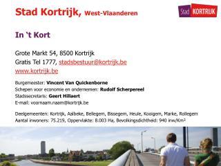 Stad Kortrijk,  West-Vlaanderen