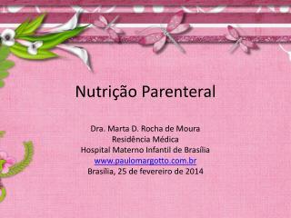 Nutri��o Parenteral