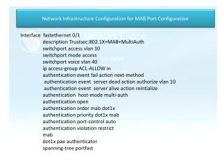 Network Infrastructure Configuration for MAB Port Configuration