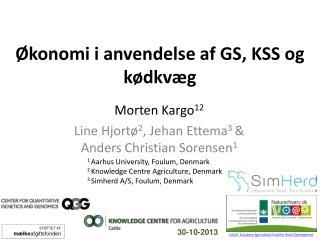 �konomi i anvendelse af GS, KSS og k�dkv�g