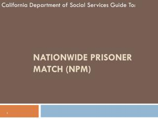 Nationwide Prisoner Match (NPM)
