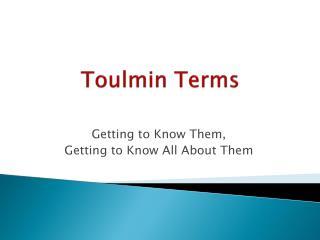 Toulmin Terms