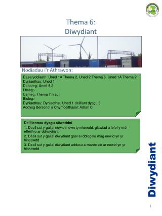 Thema 6:  Diwydiant