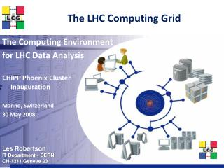 The LHC Computing Grid