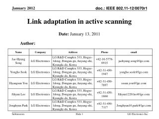 Link adaptation in active scanning