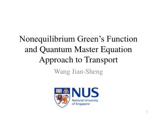 Nonequilibrium Green's Function and Quantum Master Equation Approach to Transport