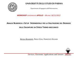 UNIVERSITÀ DEGLI STUDI DI PARMA Dipartimento di Ingegneria dell'Informazione