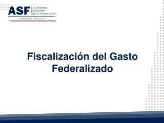 Fiscalizaci�n del Gasto Federalizado