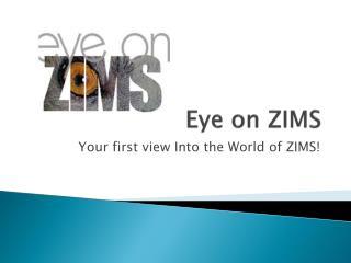 Eye on ZIMS