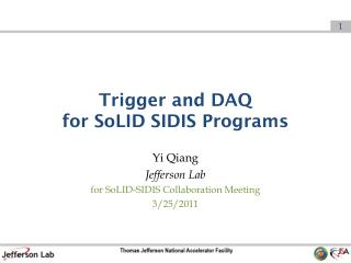 Trigger and DAQ  for  SoLID  SIDIS Programs