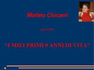 Matteo  Ciucani