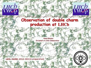 Observation of double charm production at  LHCb