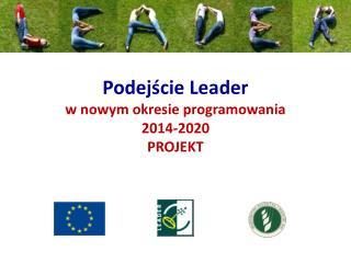 Podejście Leader w nowym okresie programowania  2014-2020 PROJEKT