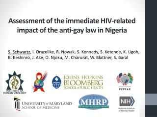 Assessment  of the immediate HIV-related impact of  the anti-gay law in Nigeria