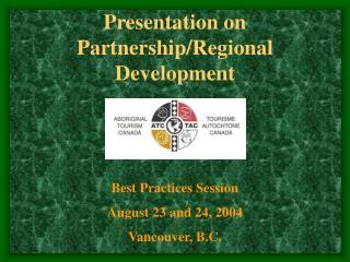 rship/Regional Development