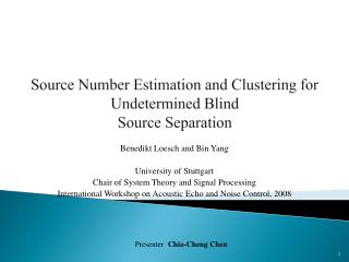 Source Number Estimation and Clustering for Undetermined Blind Source  Separation