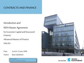CONTRACTS AND FINANCE