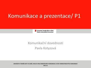 Komunikace a prezentace/ P1