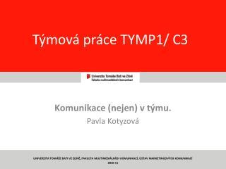 Týmová práce TYMP1/ C3