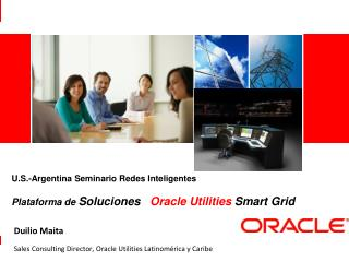 Duilio Maita Sales Consulting Director, Oracle Utilities  Latinomérica y Caribe