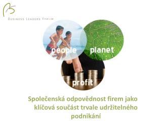 Společenská odpovědnost firem jako klíčová součást trvale udržitelného podnikání