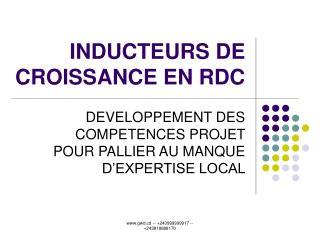 INDUCTEURS DE CROISSANCE EN RDC