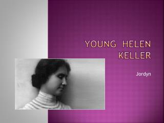 Young  Helen Keller