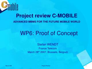 WP6: Proof of Concept