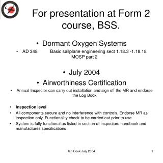 For presentation at Form 2 course, BSS.