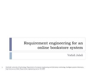 Requirement engineering for an online bookstore system