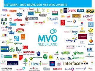 NETWERK: 2000  bedrijven  met MVO- ambitie