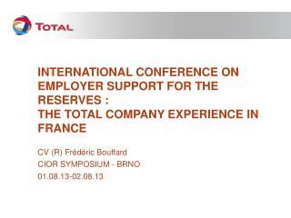 CV (R) Frédéric Bouffard CIOR SYMPOSIUM - BRNO 01.08.13-02.08.13