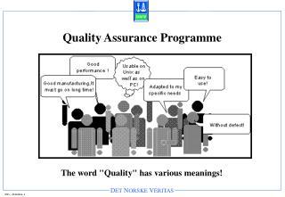 Quality Assurance Programme