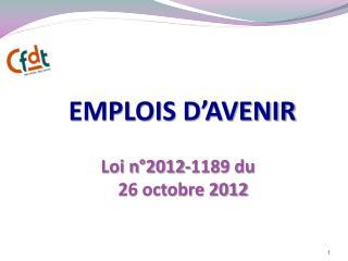 EMPLOIS D'AVENIR