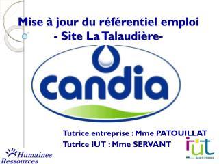 Mise à jour du référentiel emploi - Site La Talaudière-