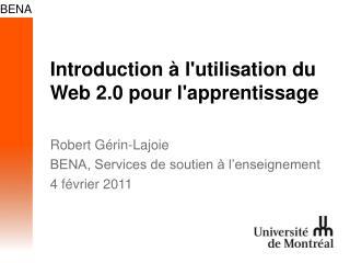 Introduction à l'utilisation du Web 2.0 pour l'apprentissage