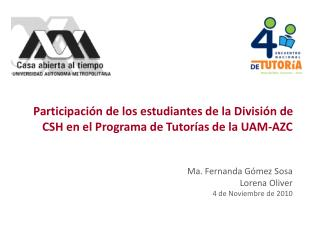 Programa de Acción Tutorial División de Ciencias Sociales y Humanidades UAM-AZC