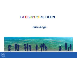 L a D i v e r s i t é  au CERN  Sara Krige