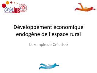 Développement économique endogène de l'espace rural