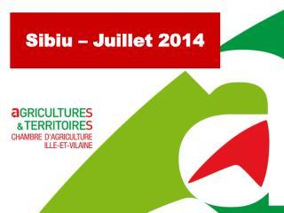 Sibiu – Juillet 2014